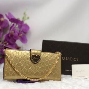Authentic Preowned Gucci Gold Wallet
